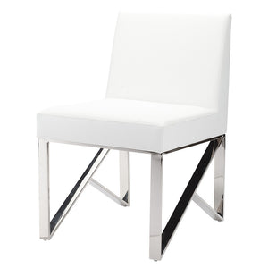 JACQUELINE DINING CHAIR WHITE - Dream art Gallery