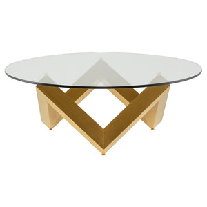 COMO COFFEE TABLE GOLD - Dream art Gallery