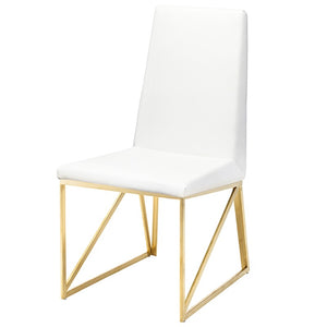 CAPRICE DINING CHAIR WHITE - Dream art Gallery