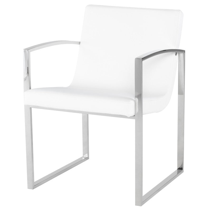 CLARA DINING CHAIR WHITE - Dream art Gallery