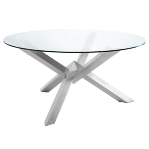 COSTA DINING TABLE SILVER - Dream art Gallery