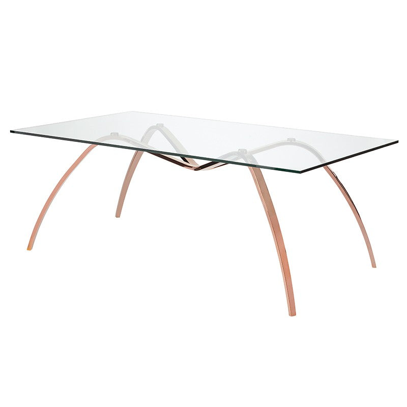 SERENO DINING TABLE GLASS - Dream art Gallery