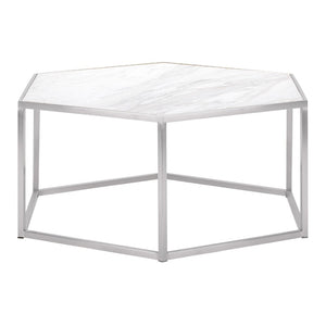 HEXION COFFEE TABLE WHITE - Dream art Gallery