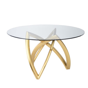MARTINA DINING TABLE GOLD - Dreamart Gallery
