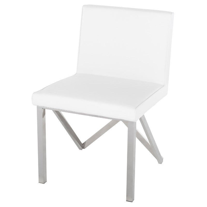 TALBOT DINING CHAIR WHITE - Dream art Gallery