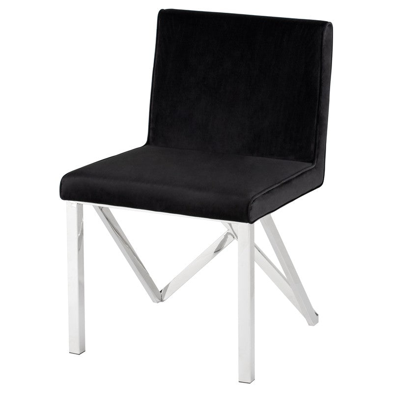 TALBOT DINING CHAIR BLACK - Dream art Gallery