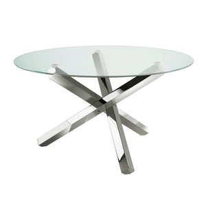 Helen Steel Dining Table - Dream art Gallery