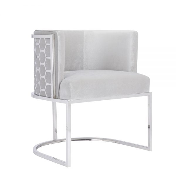 Chamberlain Chair: Grey Velvet