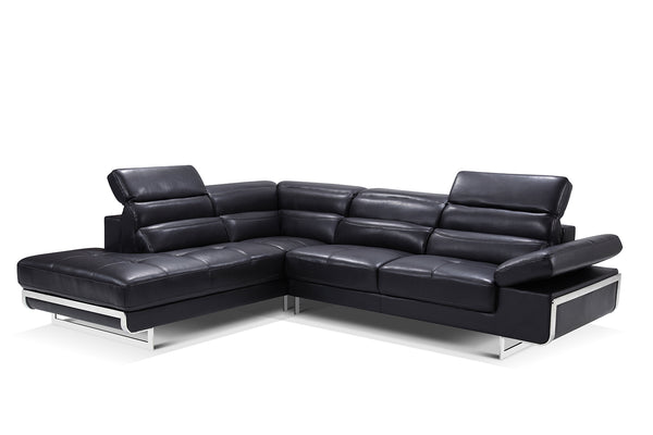Collection: ESF Extravaganza Collection Sectional black leather - Dream art Gallery