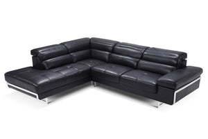 Collection: ESF Extravaganza Collection Sectional black leather - Dreamart Gallery