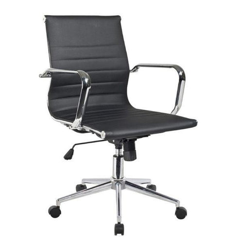 Micah Black Leatherette Office Chair