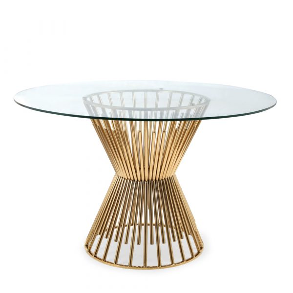 Monti Gold Dining Table - Dream art Gallery