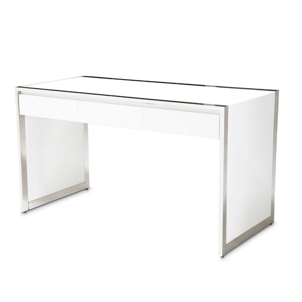 STATE ST. Writing Desk Glossy White - Dream art Gallery