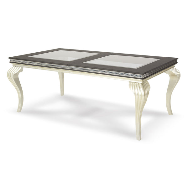 HOLLYWOOD SWANK 4 Leg Rectangular Dining Table
