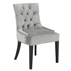Petra Grey Velvet Dining Chair - Dream art Gallery