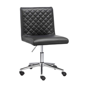 Quilted Black Office Chair - Dream art Gallery