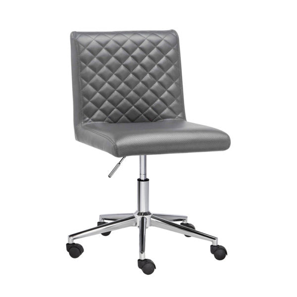 Quilted Grey Office Chair