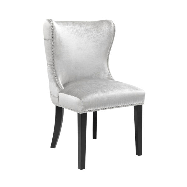 Royal Chair: E-Grey Velvet - Dream art Gallery