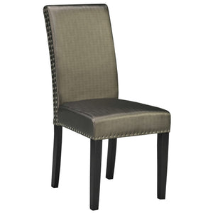 Scarpa Bronze Leatherette Dining Chair - Dream art Gallery