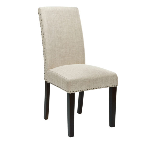 Scarpa Beige Fabric Dining Chair - Dream art Gallery