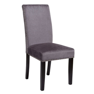 Scarpa Charcoal Velvet Dining Chair