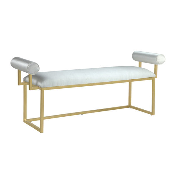 Serena White Gold Bench - Dream art Gallery