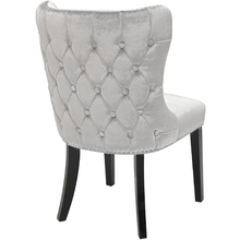 Load image into Gallery viewer, Royal Chair: E-Grey Velvet
