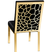 Load image into Gallery viewer, Wellington Black Velvet Gold Dining Chair - Dreamart Gallery