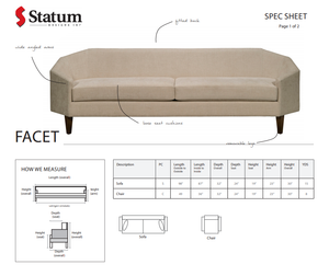 FACET SOFA - Dream art Gallery