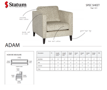 Load image into Gallery viewer, ADAM ACCENT CHAIR - Dreamart Gallery