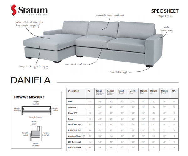 DANIELA SECTIONAL - Dream art Gallery