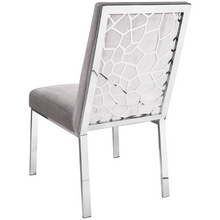 Load image into Gallery viewer, Wellington Grey Velvet Dining Chair - Dreamart Gallery