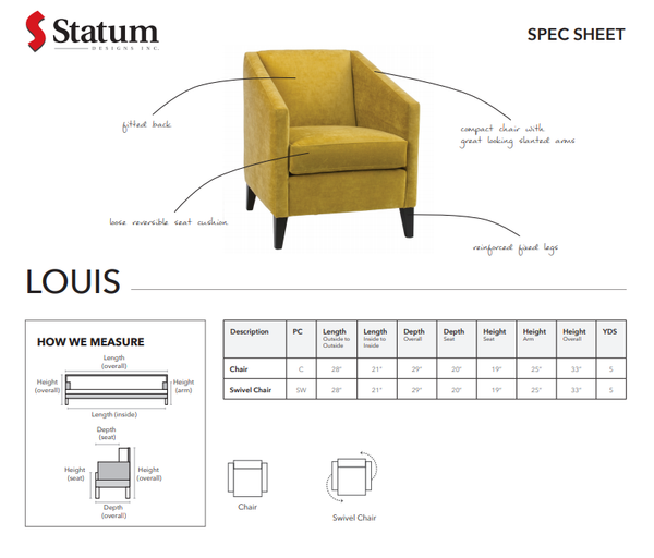 LOUIS ACCENT CHAIR