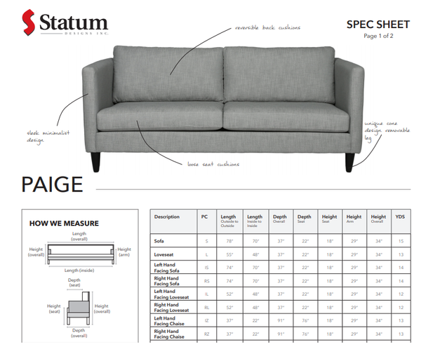 PAIGE SOFA - Dreamart Gallery