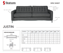 Load image into Gallery viewer, JUSTIN SOFA