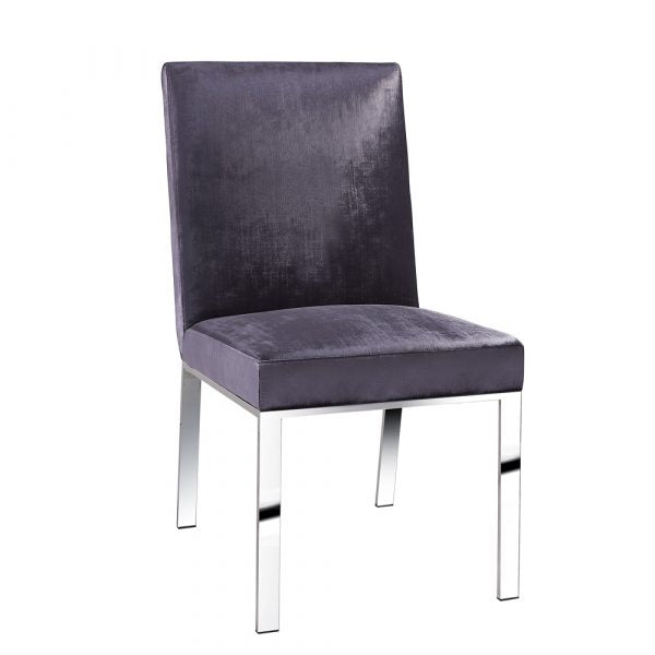 Wellington Charcoal Velvet Dining Chair - Dream art Gallery