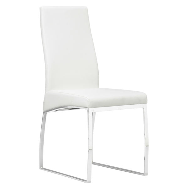 K-Chair: White Leatherette - Dream art Gallery