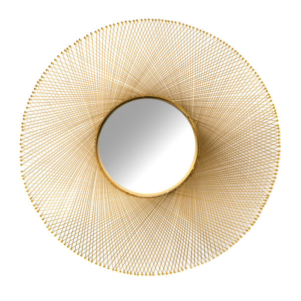 Flat Gold Wall Mirror - Dream art Gallery