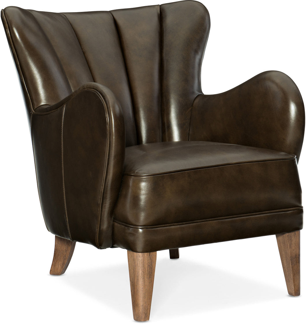 Hooker Furniture Living Room Treasure Leather Club Chair - Dreamart Gallery