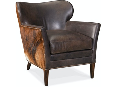 Kato Leather Club Chair w/ Dark HOH - Dream art Gallery