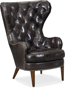 Hooker Furniture Living Room Souvereign Tufted Wing Chair - Dream art Gallery