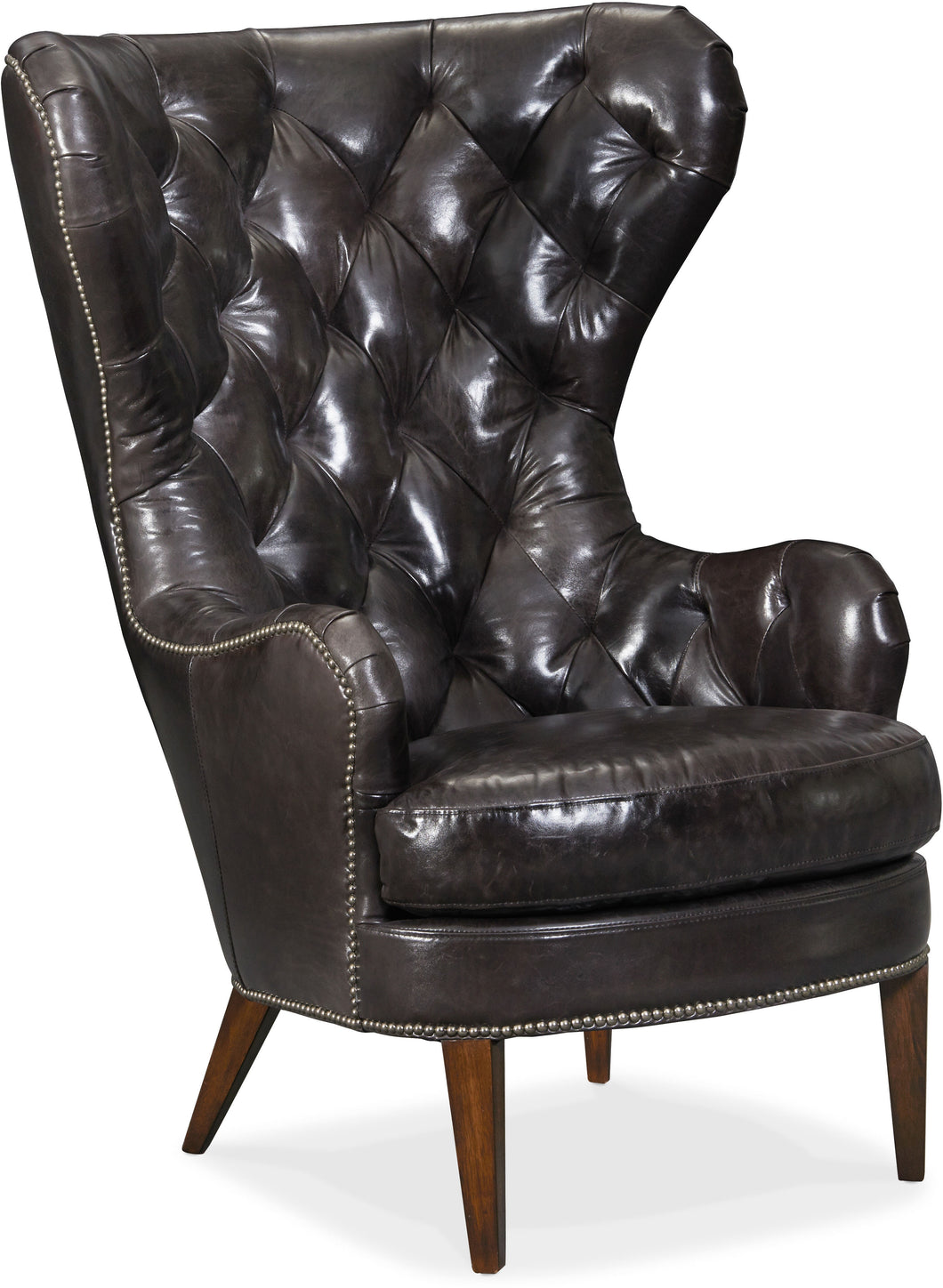Hooker Furniture Living Room Souvereign Tufted Wing Chair - Dreamart Gallery