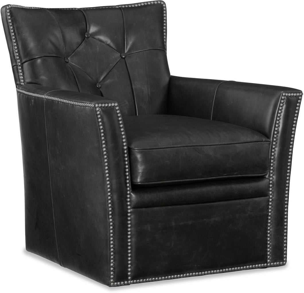 Hooker Furniture Living Room Conner Swivel Club Chair - Dream art Gallery