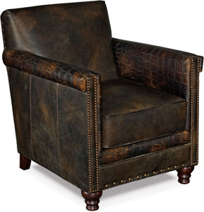 Hooker Furniture Living Room Potter Club Chair - Dream art Gallery