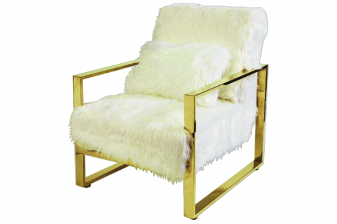 Celia Fur Accent Chair