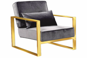Celia Gold Accent chair - Dream art Gallery