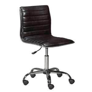 Hugo Black Leatherette Office Chair - Dreamart Gallery