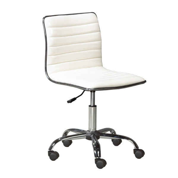 Hugo White Leatherette Office Chair - Dream art Gallery