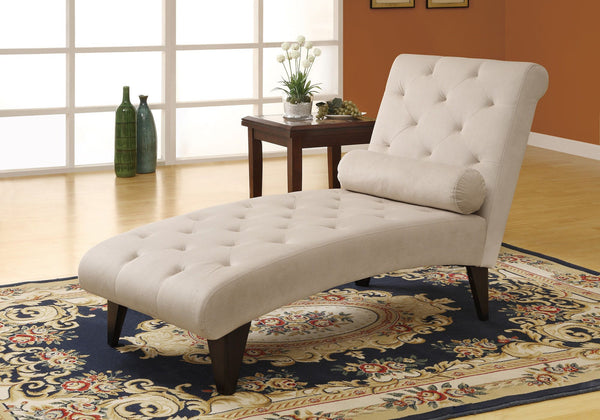 CHAISE LOUNGER - TAUPE VELVET FABRIC - Dream art Gallery