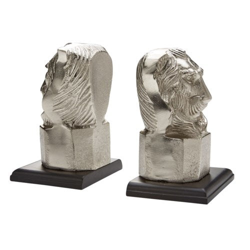 Bookend XC-9164 Silver Lion